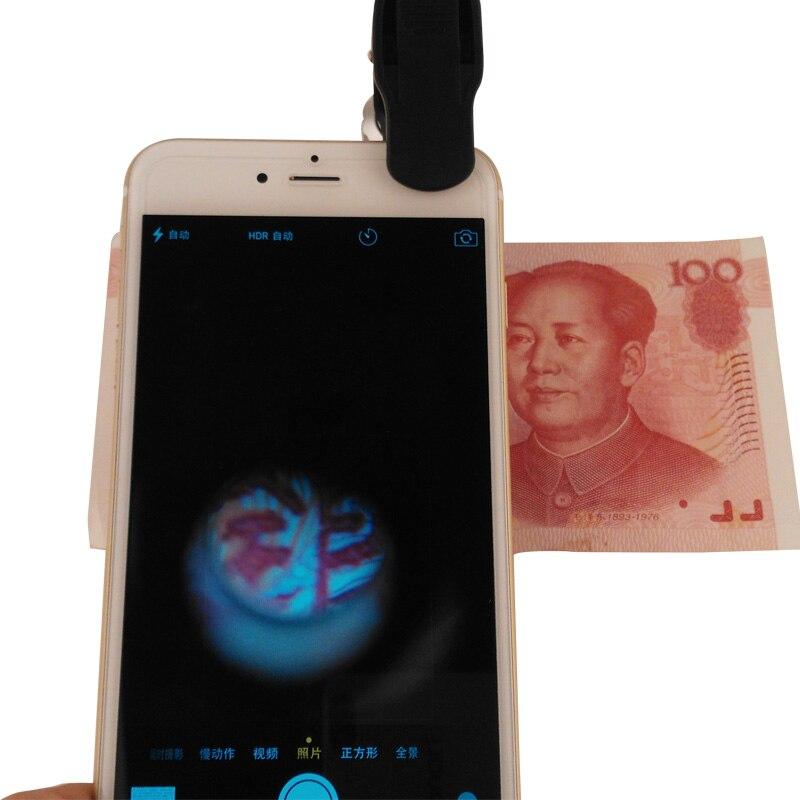 Купить с кэшбэком 60X Zoom Universal LED Cell Phone Loupe Microscope Lens Magnifier Micro Camera for iPhone 6Plus/6/5S/4S Samsung Galaxy S6 Holder