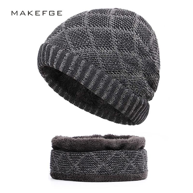 b4c7d5c863b 2018 winter Brand bone men s Winter Hat knitted wool beanies men Hip-Hop  capTurban Caps Skullies Balaclava Hats For women gorros
