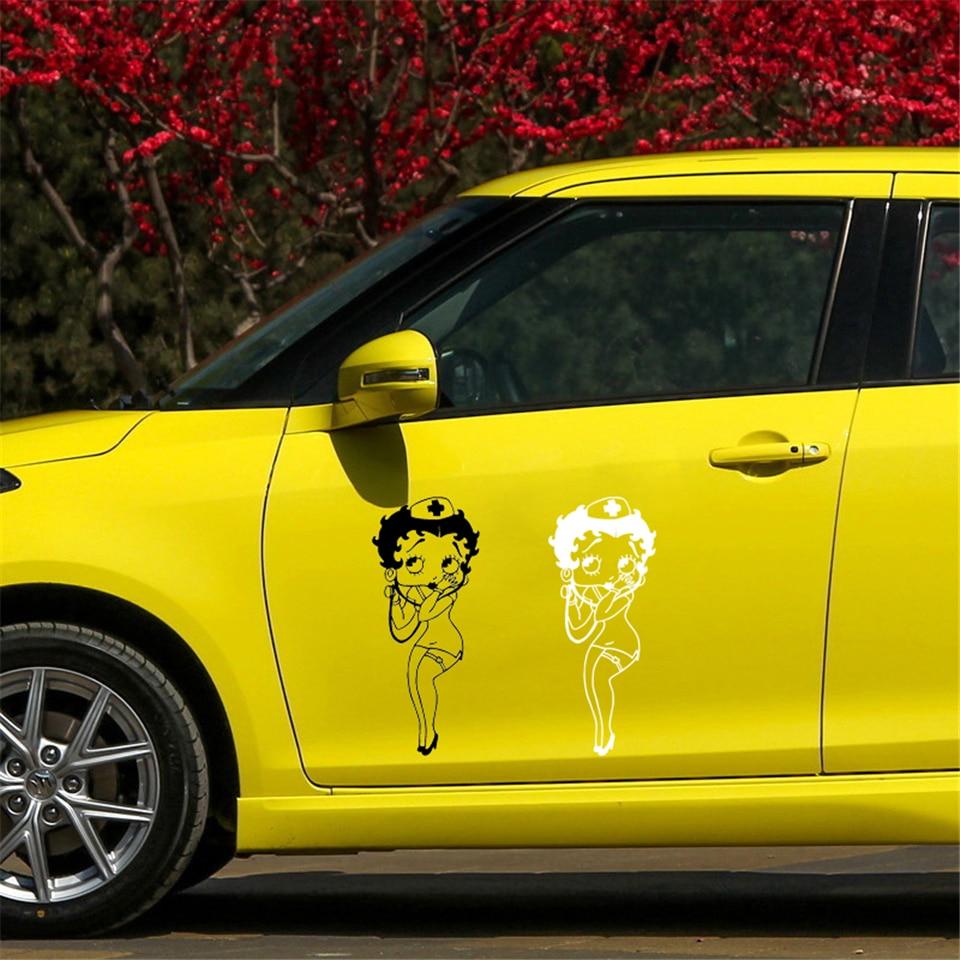 Betty Boop Nurse Cartoon Decor Vinyl Stickers Decals Car Styling ...