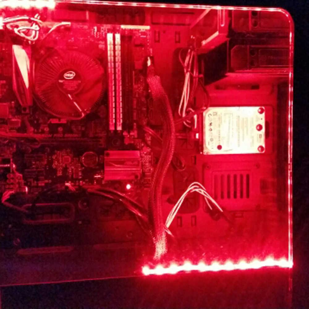 Taśma LED Light 5050 RGB na PC obudowa komputera taśma klejąca światło SATA interfejs zasilania pilot led światła na obudowa PC