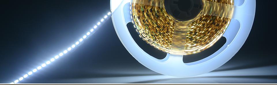 Ultra Bright SMD 2835 LED Strip DC 12V Flexible Waterproof Led Strip High Lumen LED Light Tape Ribbon Lamp 5MRoll 3528 5050 SMD Indoor 28