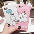 2017 Candy мультфильм Case Для iPhone 6 6 S Plus Cute Hippo Imd Вернуться Тпу Для iPhone 7/Плюс Телефон Случаях