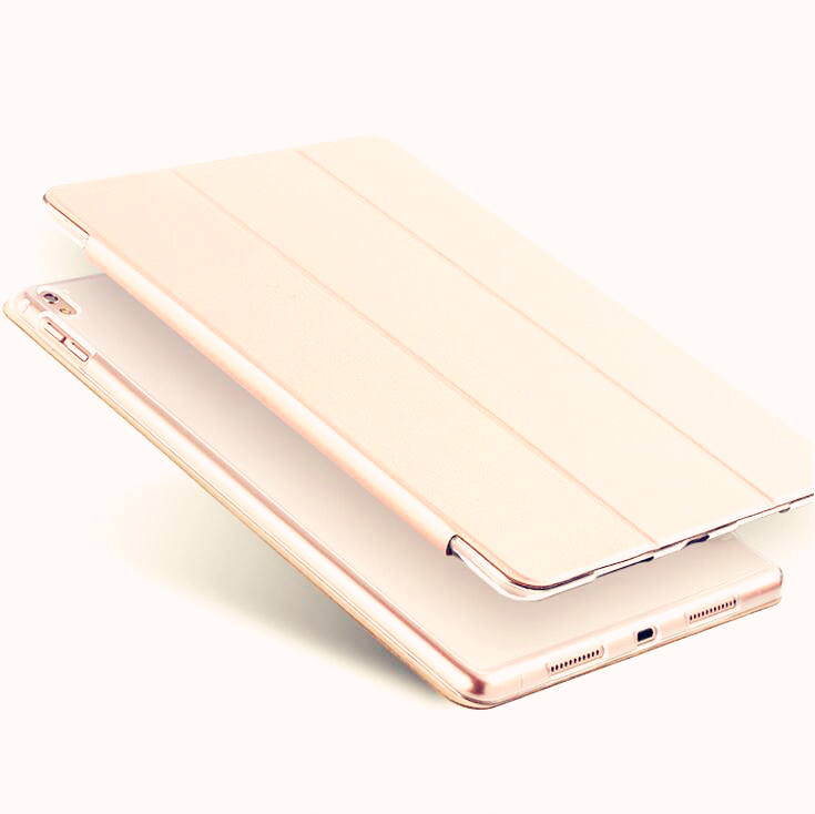 SUREHIN Nice smart leather case for apple ipad pro 12.9 cover case sleeve fit 1 2G 2015 2017 Year thin magnetic transparent back