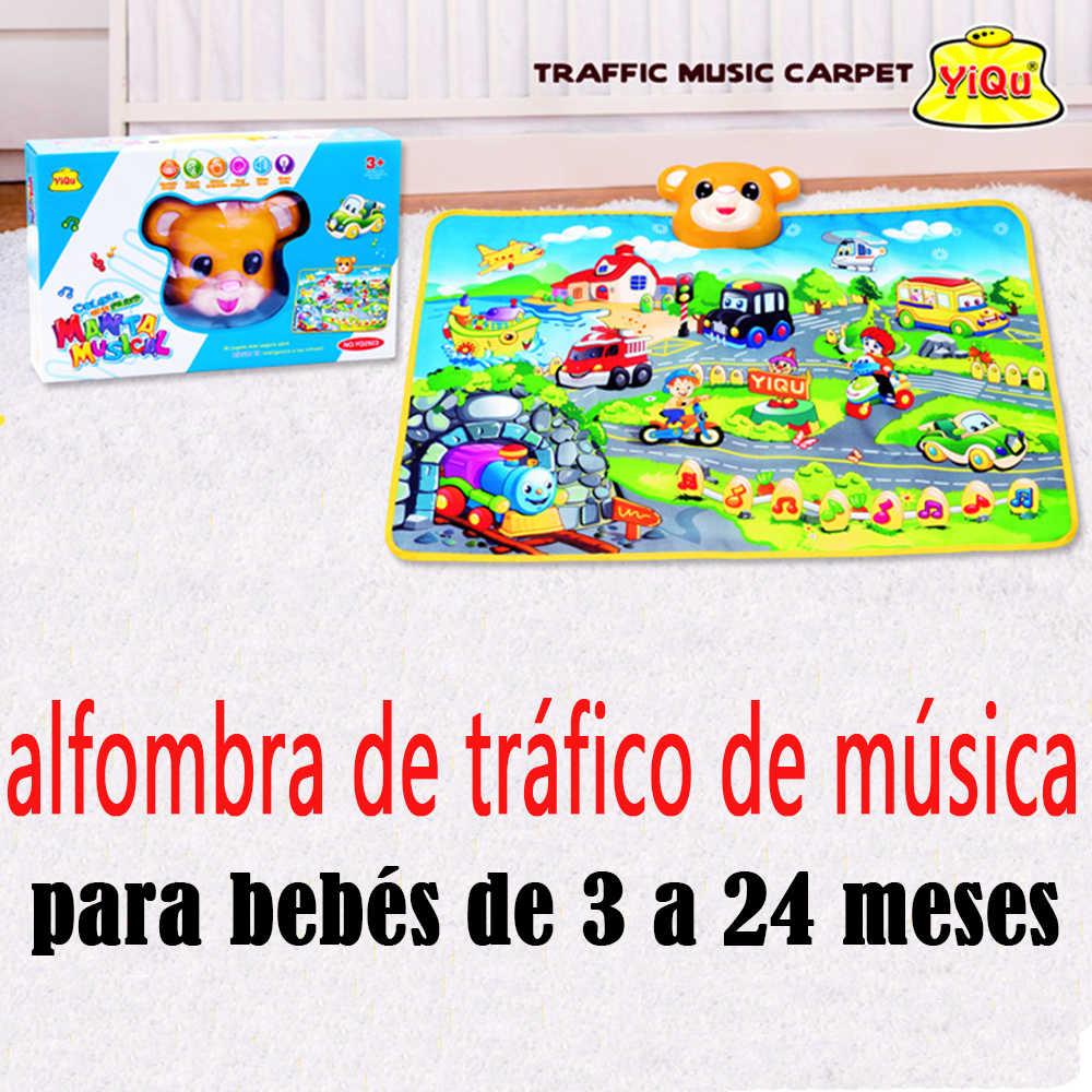 Испанский трафика музыка детей Ковры Спорт Коврики для детей Игрушки для маленьких детей 13-24 месяцев играть Коврики сосредоточиться на детские игры животные звучание