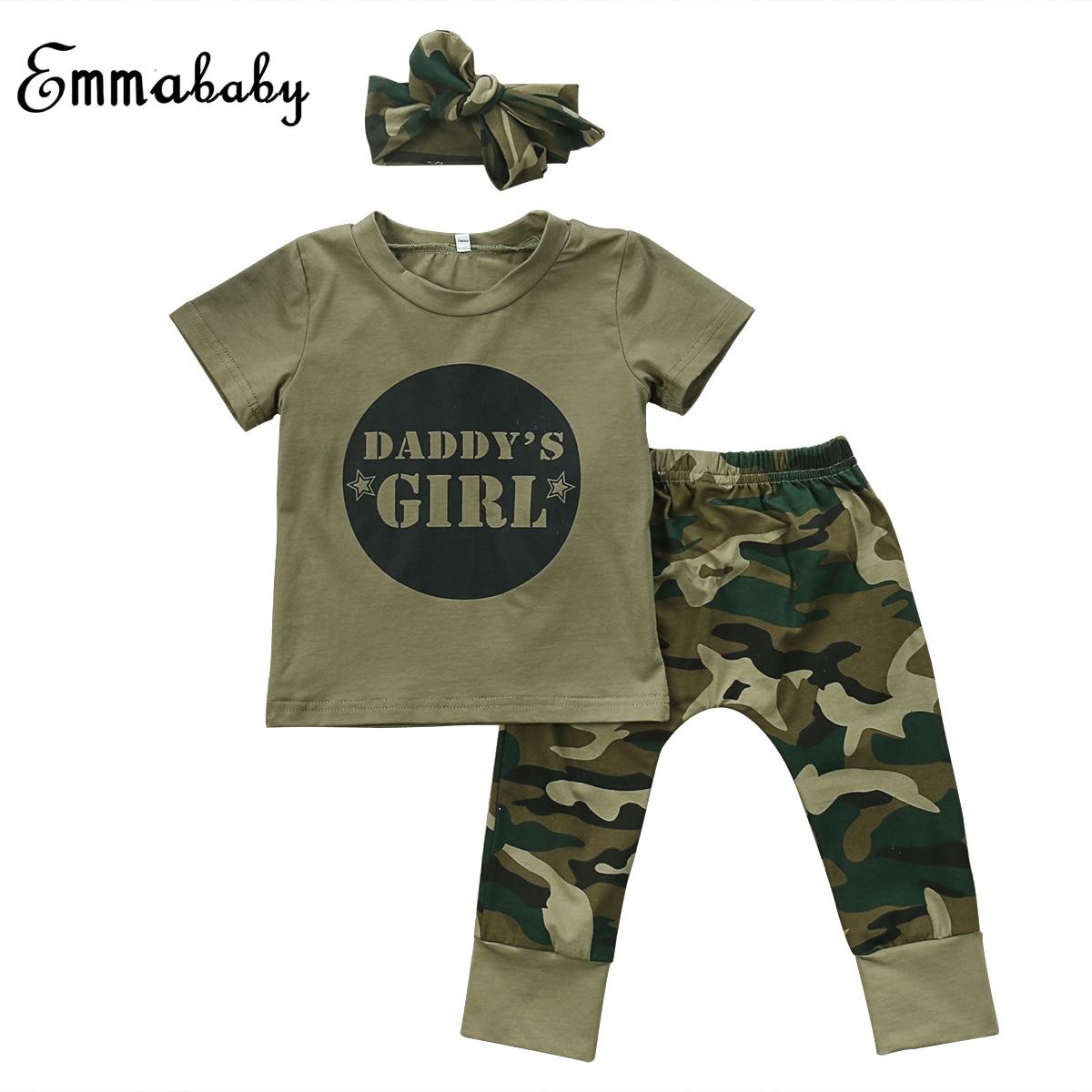 2017 Camouflage Shirt Fashion Baby Sets Newborn Toddler