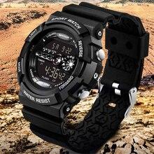 Известный люксовый бренд спортивные часы для мужчин из нержавеющей стали светодиодный цифровой будильник даты водонепроницаемые спортивные кварцевые часы Прямая поставка
