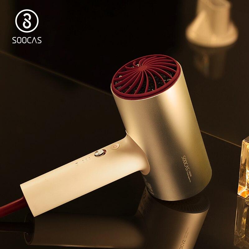 SOOCAS H3 EU stecker Negative ionen haar trockner 1800 W professionelle 3 modus schlag trockner Aluminium legierung starke elektrische haar trockner xiaomi