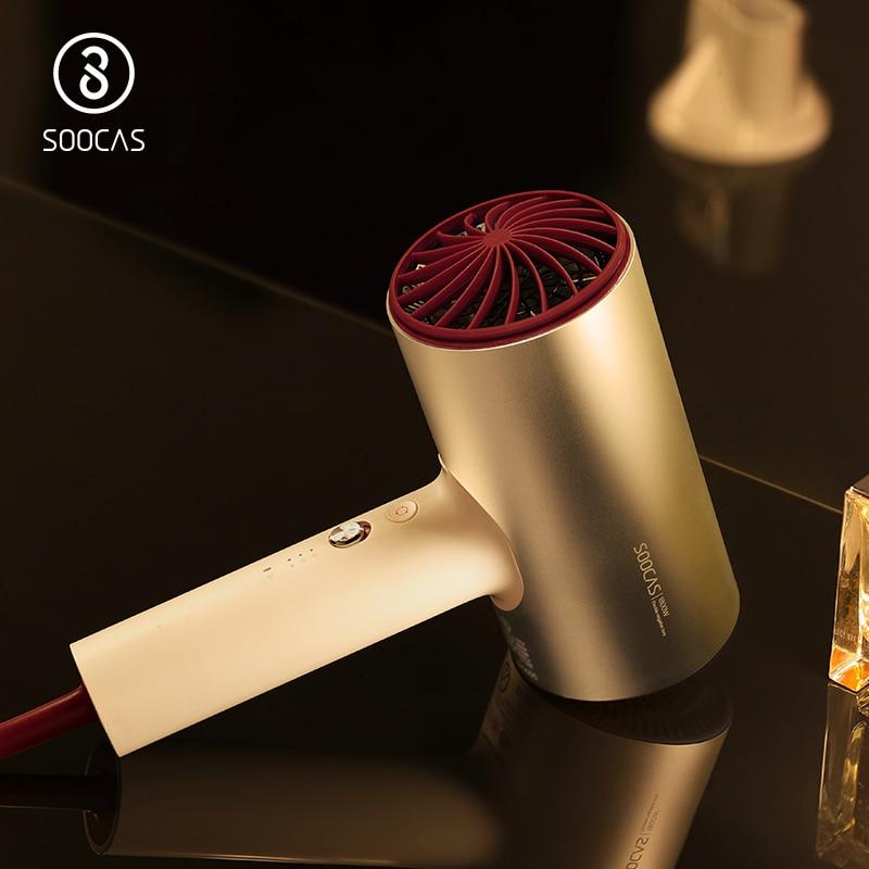 SOOCAS H3 enchufe de la UE de iones negativos secador de pelo de 1800 W profesional 3 Modo secador de aleación de aluminio de la poderosa de cabello eléctrica secador de xiaomi