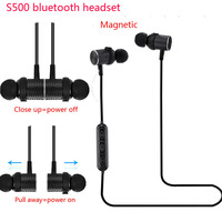 New S500 Magnetic Headphone Wireless Bluetooth Earphone Headset Hands Free Sports Headphone For Phone Fone De
