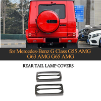Углеродного волокна задние лампы Чехлы для Mercedes Benz G Class G55 G63 G65 AMG 2004 2018 стайлинга автомобилей задний фонарь декоративные