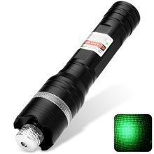 Retractable Green Starry Lazer Pointer Pen Ultra Bright Presentation Pointer (1 x 16340 Battery)