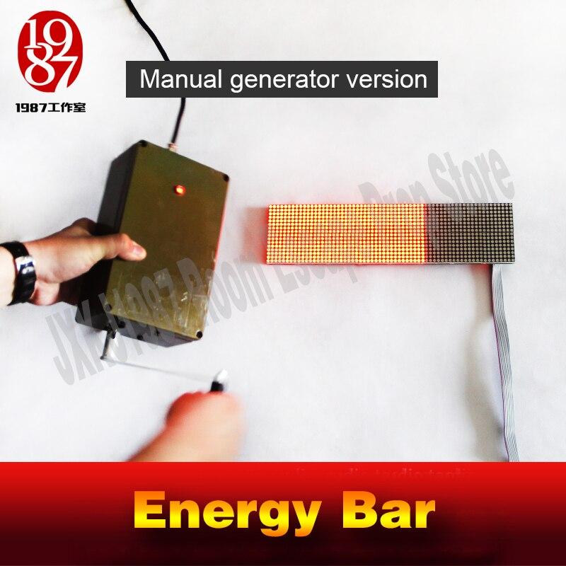 Takagism Jeu prop manuel générateur D'énergie bar version pour room escape jeu aventurier puzzles pour exécuter la pièce de chambre