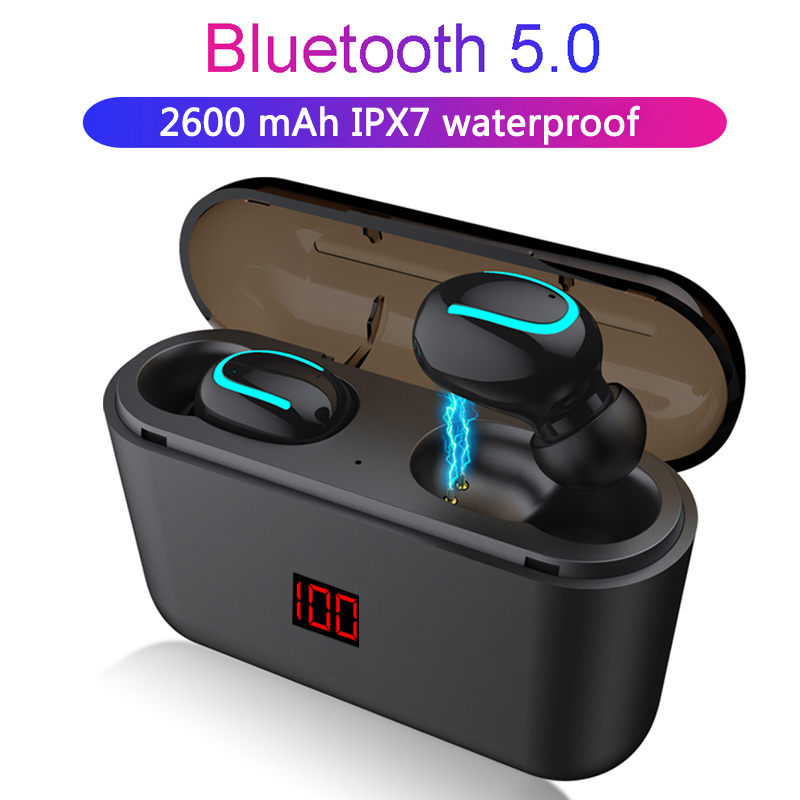 Bluetooth 5.0 Earphones TWS Wireless Headphones Blutooth Earphone Handsfree Sports Earbuds Gaming Headset Phone LED Display
