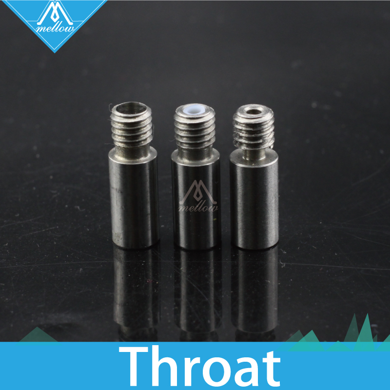 HOT!2pcs Upgraded Cyclops and Chimera 2 in-1 out Nozzle Throat with Teflon tube/without Teflon/4.1mm 1.75mm For 3D Printer 10pcs lot high quality 3d printer spare parts m6 26 3d printer e3dv5 nozzle throat with teflon tube