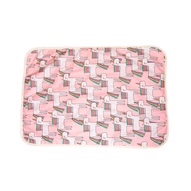 Washable Nappy Changing Pad for Infants and Newborns with Cartoony Designs