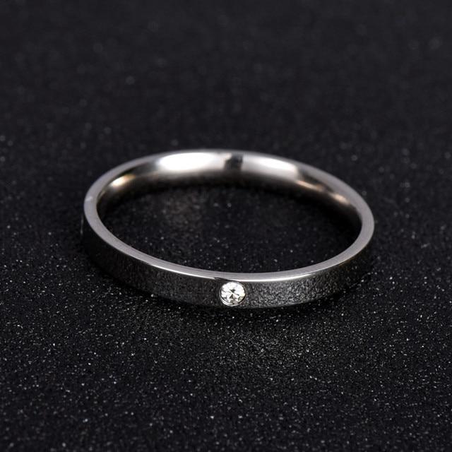 Anel clássico Para As Mulheres & Homens Moda Jóias Amor Eternidade Presente 316L NJ201 Anéis Nunca Desaparecer de Aço Inoxidável