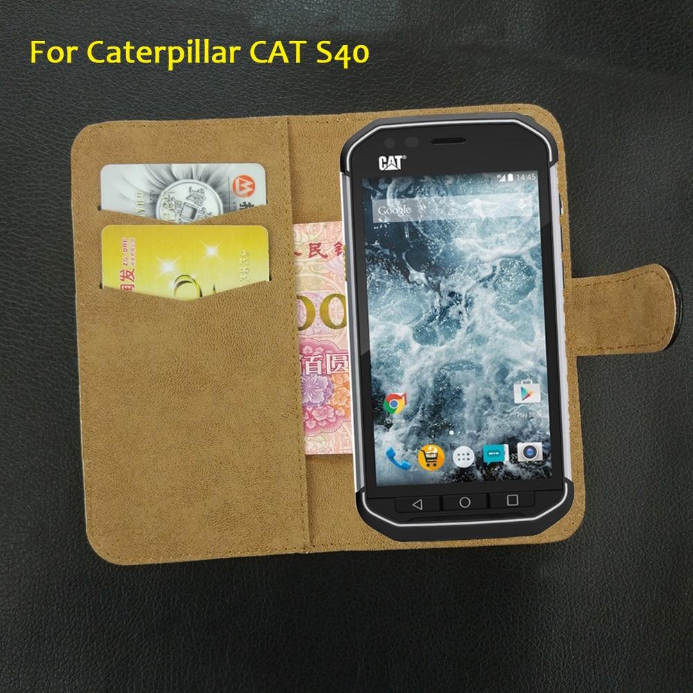 565f7a98c 6 Cores Super!! Caterpillar CAT S40 Caso 5 Moda Personalizar Couro  Protetora Exclusiva 100% Especial Tampa Do Telefone + Rastreamento
