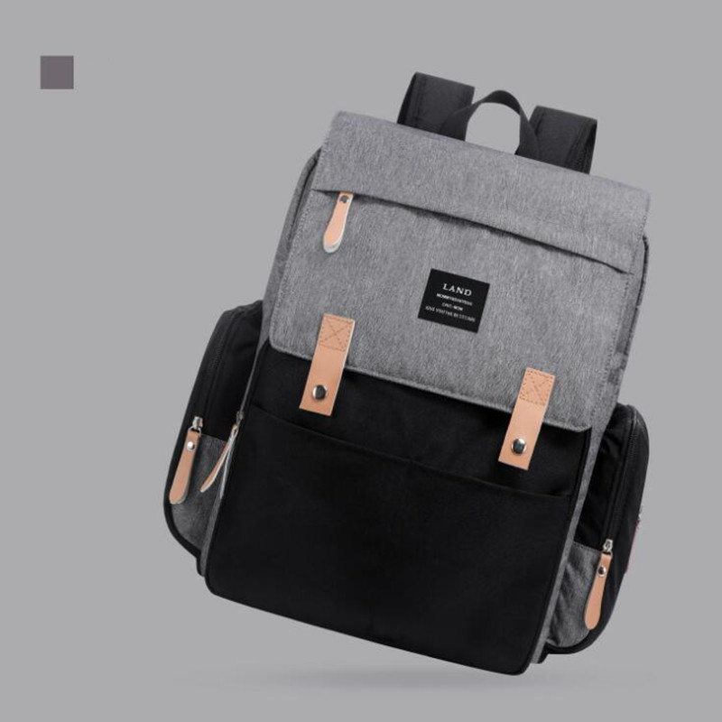 HTB15PRIO3HqK1RjSZFgq6y7JXXaW Authentic LAND Mommy Diaper Bags Mother Large Capacity Travel Nappy Backpacks with anti-loss zipper Baby Nursing Bags NEW