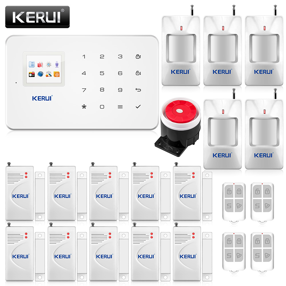 High-Grade Russian English Voice 10 x Door Sensor Infrared Detector Wireless Auto dial Home Alarm GSM Security System 433Mhz