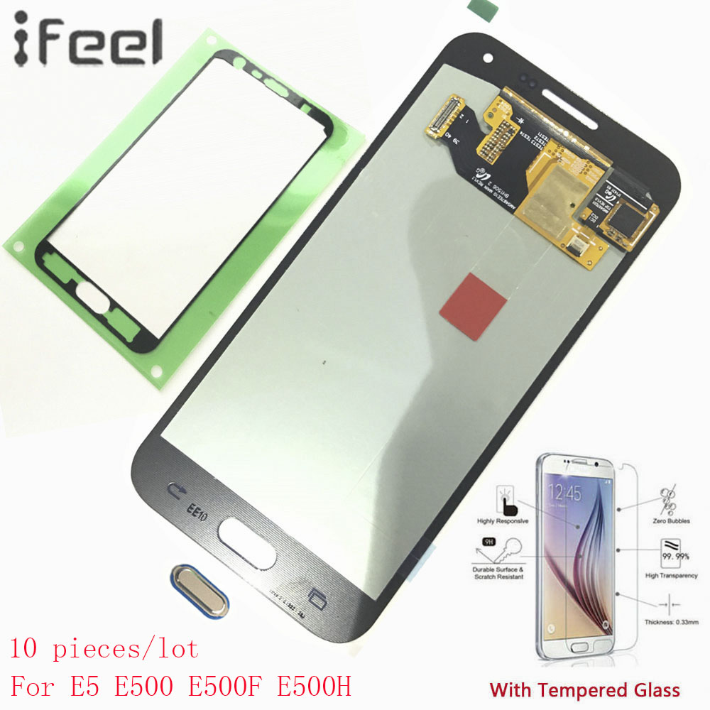 IFEEL 10 pieces/lot For Samsung Galaxy E5 E500 E500F E500H E500M New LCD Display Touch Screen With Digitizer Super AMOLED+ButtonIFEEL 10 pieces/lot For Samsung Galaxy E5 E500 E500F E500H E500M New LCD Display Touch Screen With Digitizer Super AMOLED+Button