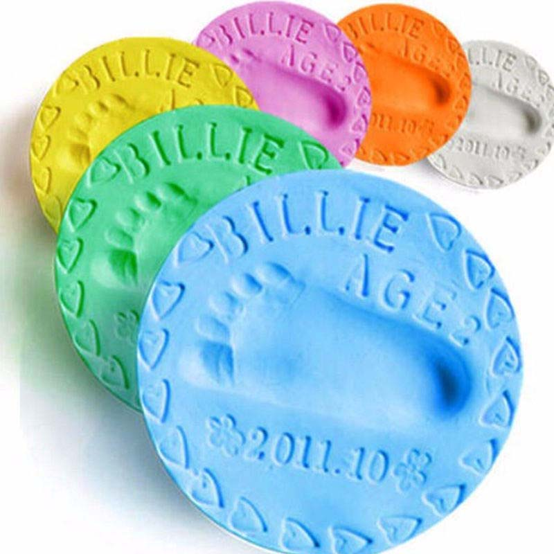 8 Colors 20g Plasticine Drying Soft Clay Baby Handprint Footprint Imprint Fingerprint Mold Kit Casting Parent Child Hand Inkpad