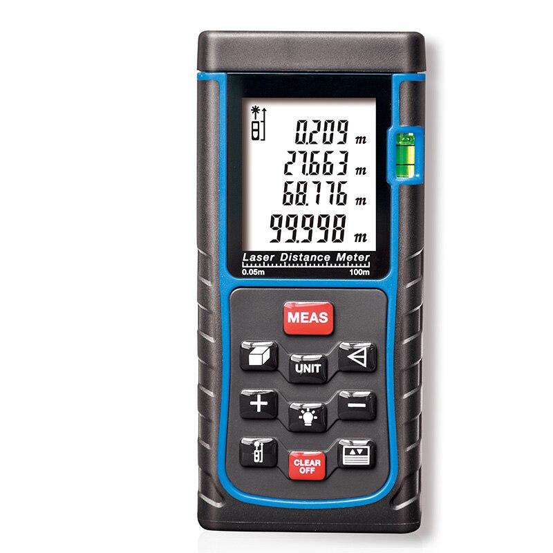 SW-E100 digital Laser distance meter 100m 262ft Bubble level Tape measure Area/volume tool Rangefinder Range finder  цены