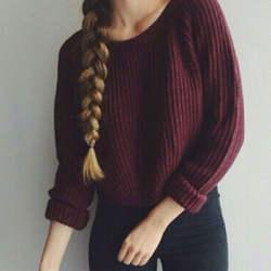 Осень зима женщины свитера и пуловеры корейский стиль с длинным рукавом повседневная растениеводство свитер тонкий твердые трикотажные