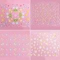 Popular 50 folhas diferentes estilos Nail Art Sticker Decal dicas Flower Manicure DIY decoração 5IDJ