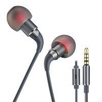 Y1 Hifi Dynamique Mini Stéréo Écouteur Dans L'oreille Basse Casque Musique Intra-auriculaires HD Microphone pour iPhone/Xiaomi/Samsung 3.5mm Jack Boules Quies