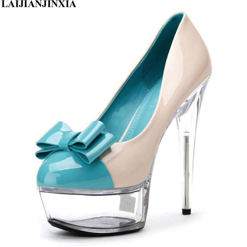 De Laijianjinxia Boda Zapatillas Cm Zapatos D171 Nuevos Mujer 15 Sm d016 Tacón Alto Charol Sexis PXAzUqX