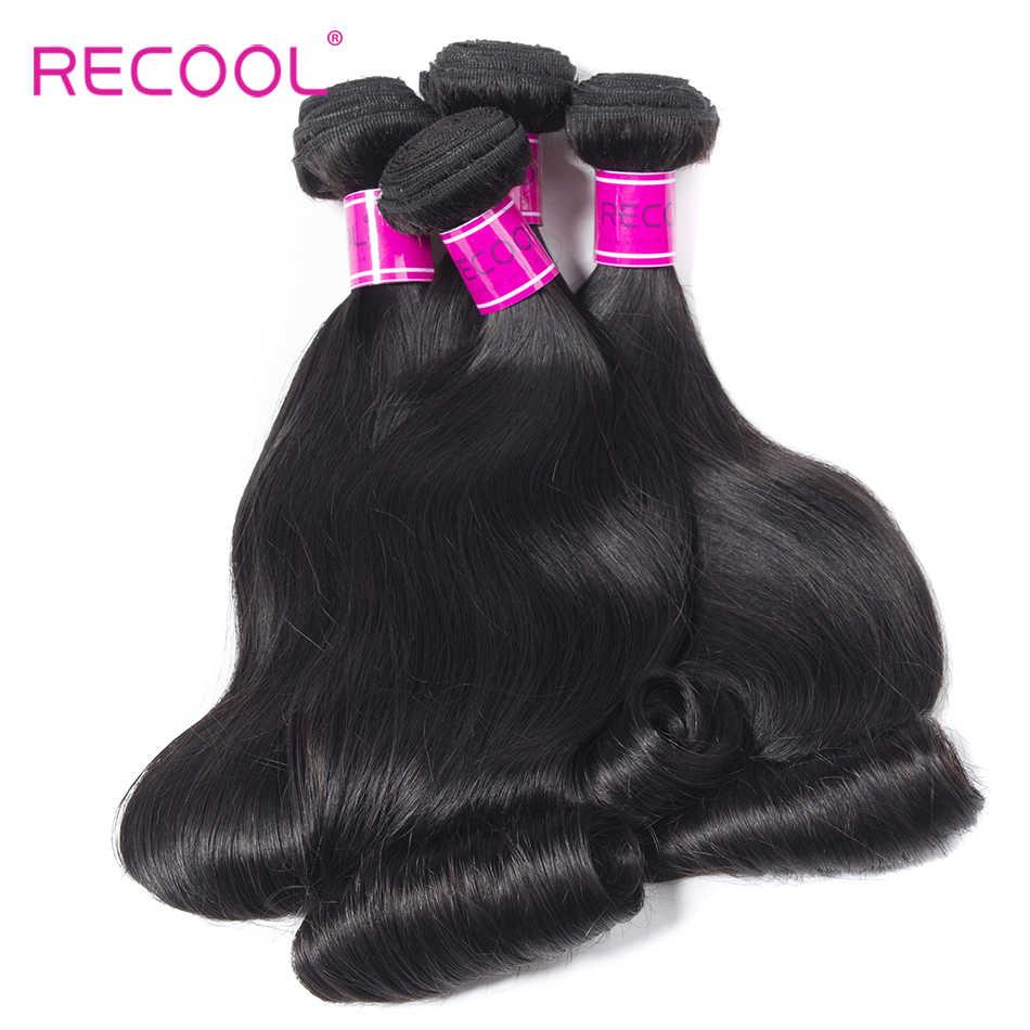 Recool Peruvain Haar Weave 3 Bundels Natuurlijke Kleur Losse Golf Funmi Haar Ei Krul Weave Human Haarverlenging Remy Haar Extension