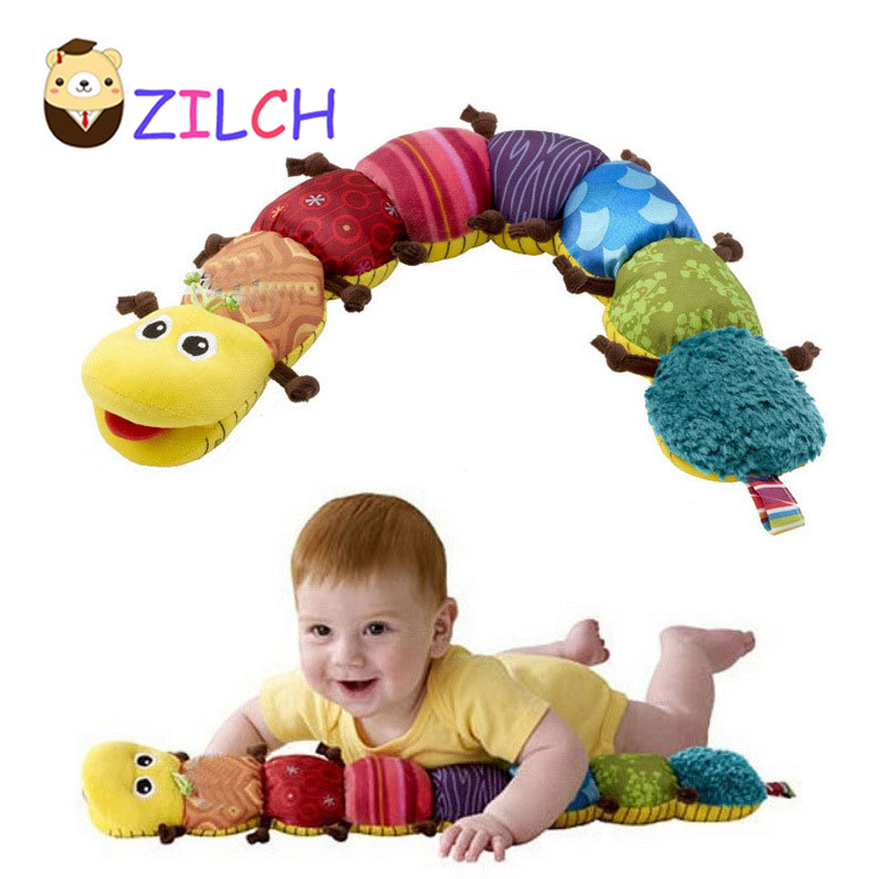 NEW Baby Toys Musical Stuff Caterpillar With Ring Bell Cute Cartoon Animal Plush Doll Early Learning Educational Kids Toys