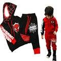 Conjuntos de Roupas de bebê Menino Com Capuz Treino Meninos Roupas Primavera Spiderman Roupa Dos Miúdos para Crianças de Algodão Meninos Ternos Camisola