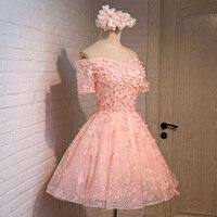 Zarif straplez pembe/mor çiçek voilce parti elbiseler kadın 2017 yaz kısa kollu kapalı omuz kısa bandaj dress kadın