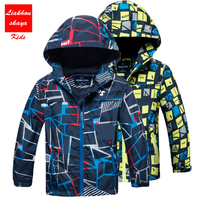 2017 Girls Boys Leather Jacket Children S Windbreakers Kids Outerwear Sporty With Hoodie Clothes Double Deck