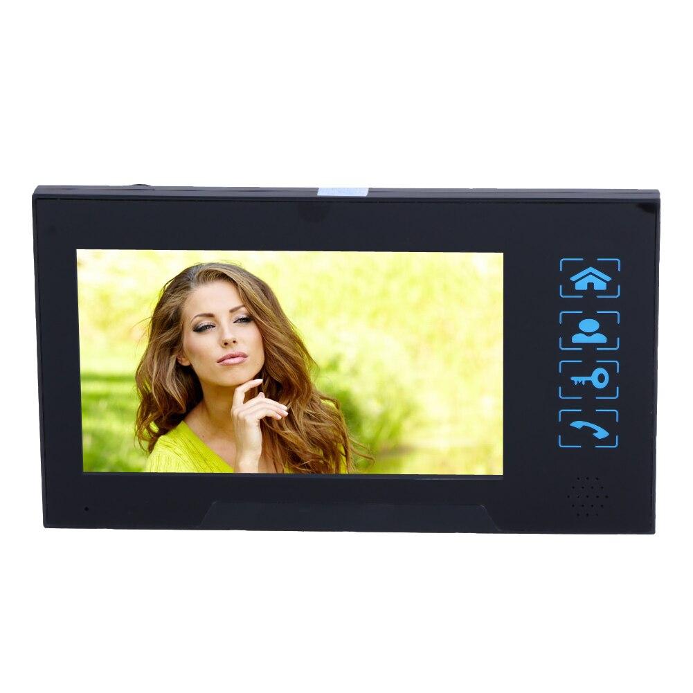7 HD AC100V-240V LCD Villa-Type Wired Video Doorbell Doorphone System Visual Intercom Doorbell Calendar Memory Card