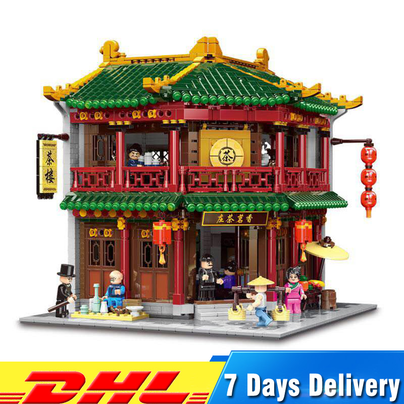 DHL Xingbao 01021 3033 PCS Chinese Building Model Tea House Bricks Blocks Educational Toys for Children Birthdays Gifts