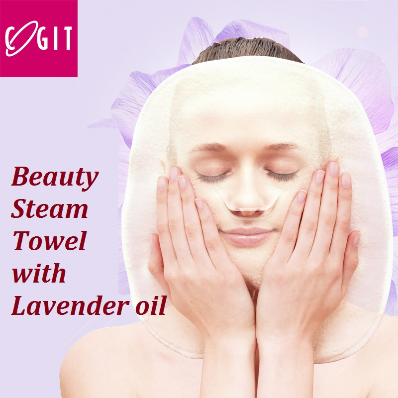 ФОТО Japan Cogit Skin care steaming face towel with Lavender oil steam towel bath towel Skin dirt removal Make your face skin smooth