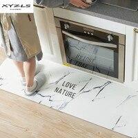 Modern Non slip Kitchen Mats Oil proof Waterproof Carpets PU Printed Doormat Tapete Bedroom Living Room Floor Mats