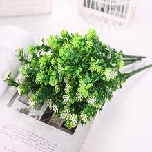 Artificial Flower Milan Grass Arrangement Green Plant Pot Sitting Room Decorate Photo Props Furnish Sztuczne Kwiaty