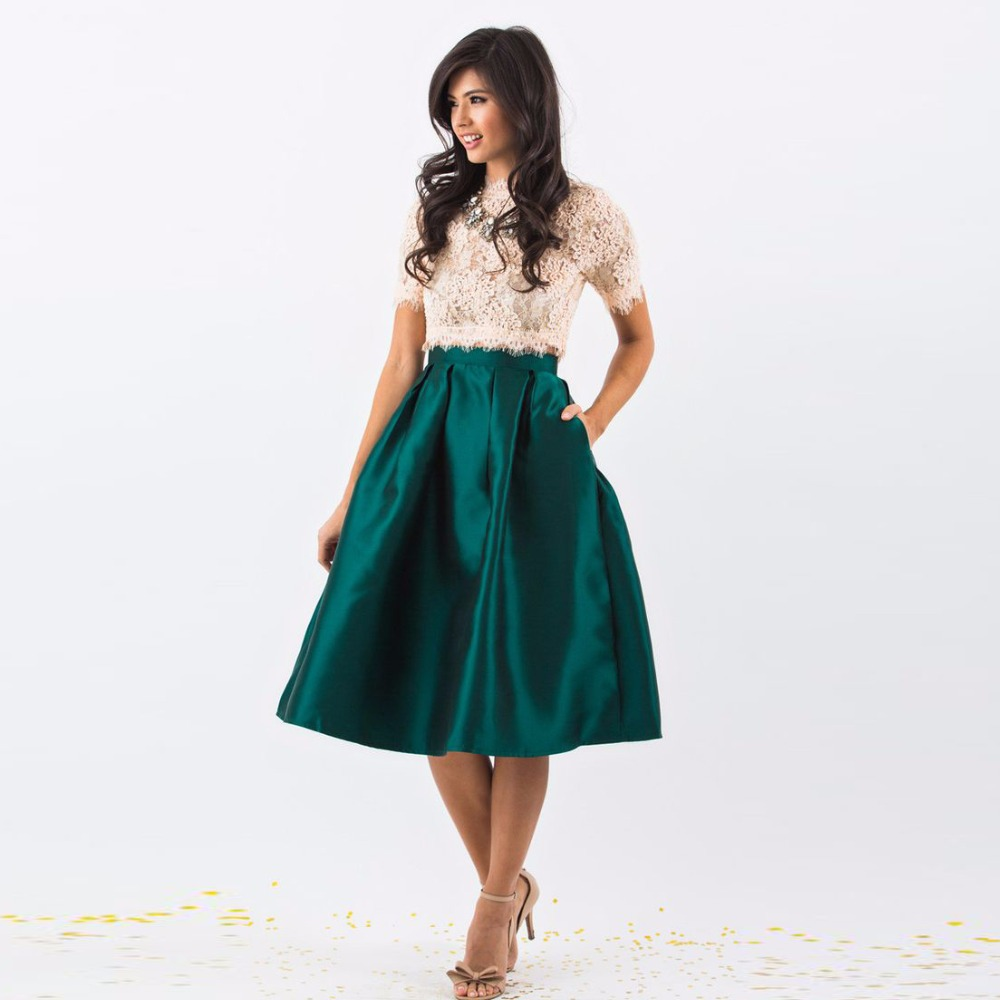 Popular Green Pleated Skirt-Buy Cheap Green Pleated Skirt lots ...
