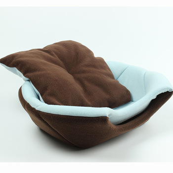 2 Uses Foldable Soft Warm Cat Dog Bed House Pet Cave Puppy Sleeping Mat Pad Nest Pet Beds Dog Blanket Animal Sleep Cat Bed House 1