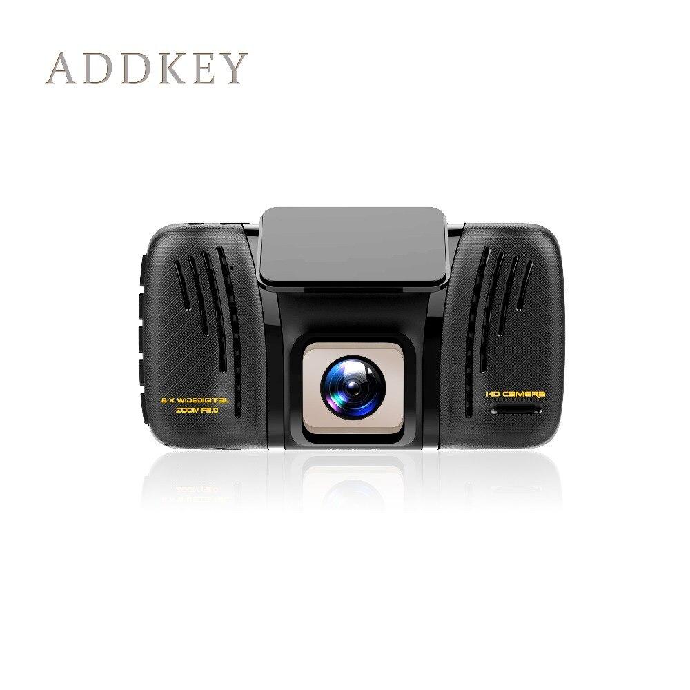 imágenes para Cámara del coche dvr novatek 96655 sony imx322 addkey dvr de doble lente versión nocturna FHD 1080 P coche dash cam dvr grabador de imagen Inversa