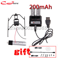 Wholesale 3pcs 200mAh 3 7V Li Poly Battery Chargr Landing Skid New Version Plug RC Helicopter