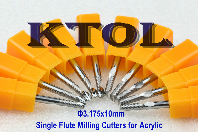 3 175x10MM Single Flute End Mill Wood Cutting Tools for Milling Machine Acrylic Cutter Knife Bits