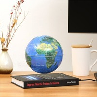 3 inch Globe Book Magnetic Levitation Floating Anti Gravity Globe World Map Magnetic Rotating Globe Discoloration Innovative