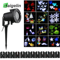 Holiday LED Projector Christmas Decoration Light 12 Pattern Slides Indoor Outdoor Garden Waterproof LED Stage Light