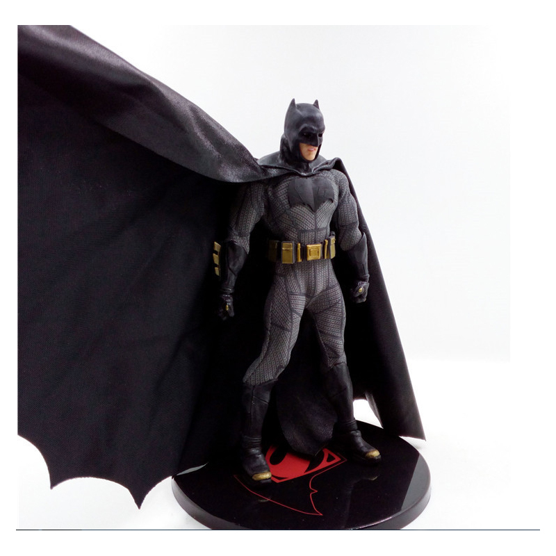 Dawn of Justice Figure Batman V Super hero Action Figure Batman in Black Cape Toy 16cm                                          Dawn of Justice Figure Batman V Super hero Action Figure Batman in Black Cape Toy 16cm