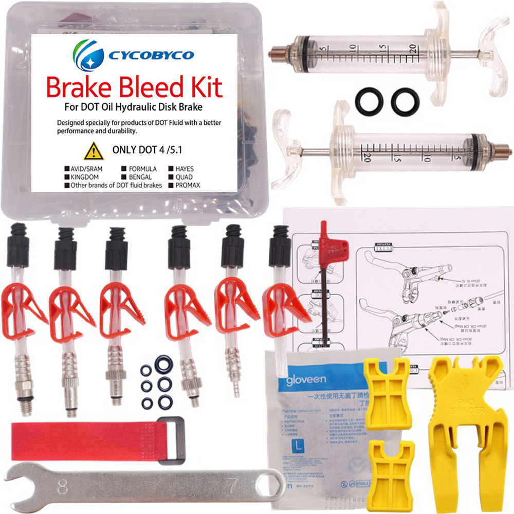 Bike Hydraulic Disc Brake Bleed Kit Tools for AVID Formula HYGIA USAGI HAYES