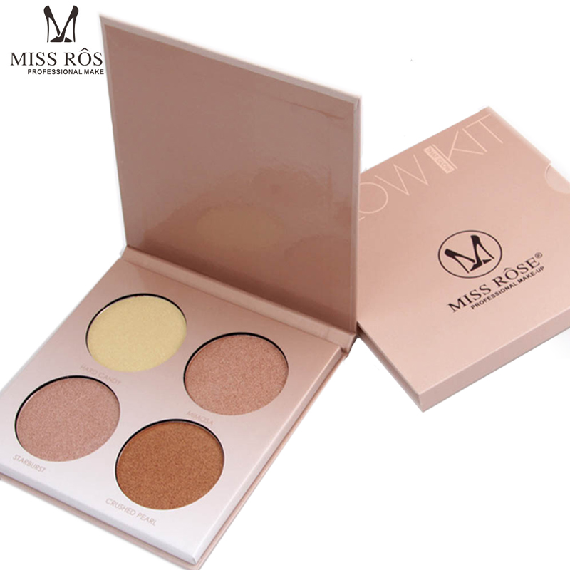 MISS ROSE Brown White Shimmer Face Glow Brighten Concealer Palette Base Minerals Makeup font b Bronzers